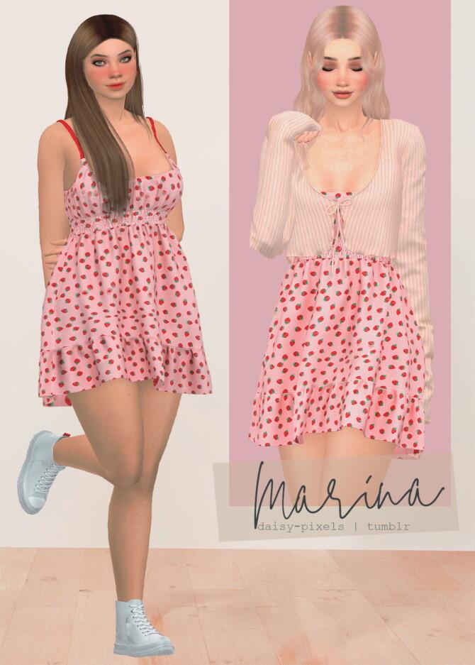 Sims 4 Marina Dress at Daisy Pixels
