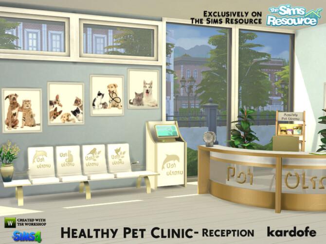 Sims 4 Healthy Pet Clinic Reception by kardofe at TSR