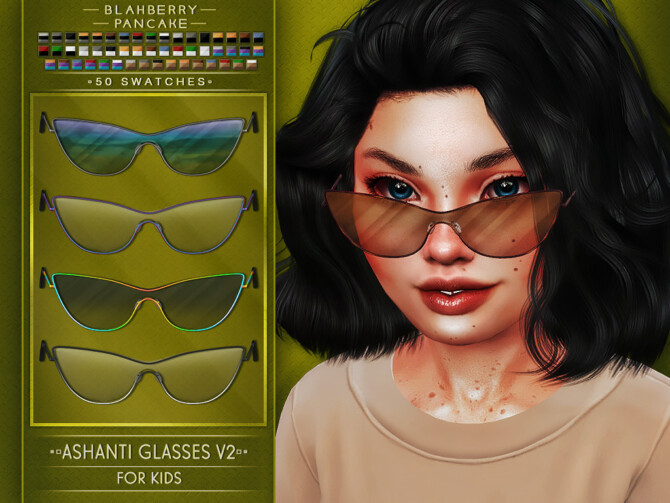 Sims 4 ASHANTI GLASSES at Blahberry Pancake