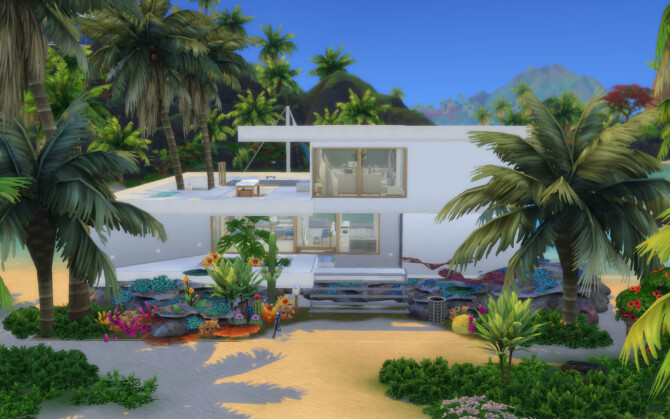 Sims 4 Coral Residence by alexiasi at Mod The Sims 4