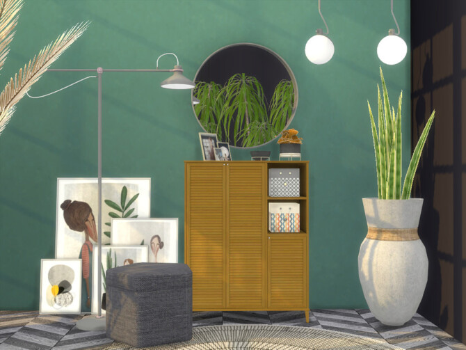 Sims 4 Alvin Hallway by Onyxium at TSR