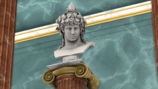 Sims 4 Bust of Antinous as Dionysus Osiris by TheJim07 at Mod The Sims 4