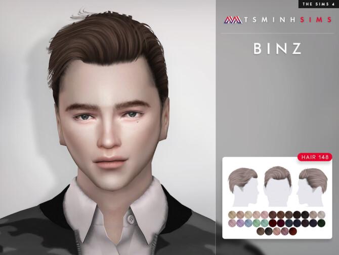 Sims 4 Binz Hair 148 by TsminhSims at TSR