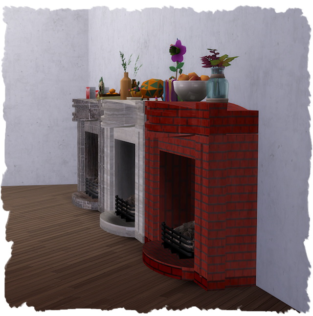 Sims 4 Fireplace Modern Antique by Chalipo at All 4 Sims