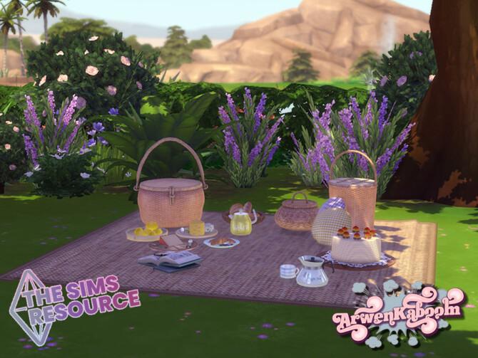 Sims 4 Wickery set by ArwenKaboom at TSR