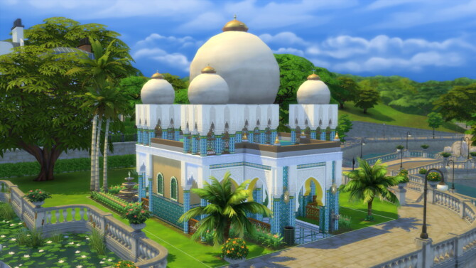 Sims 4 Taj Agra Moroccan Mughal Style Home at Mod The Sims 4