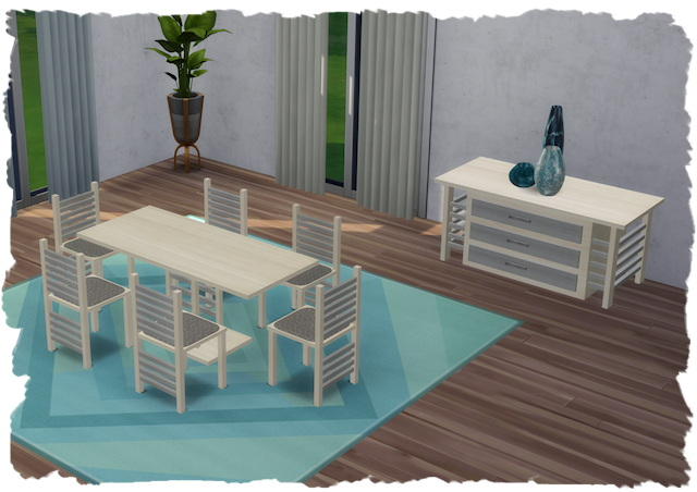 Sims 4 Legend dining room by Chalipo at All 4 Sims