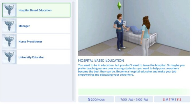 Sims 4 Nursing Career 4 Tracks by PunnyBee at Mod The Sims 4