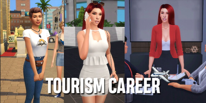 Sims 4 Tourism Career by jheyjuneice at Mod The Sims 4