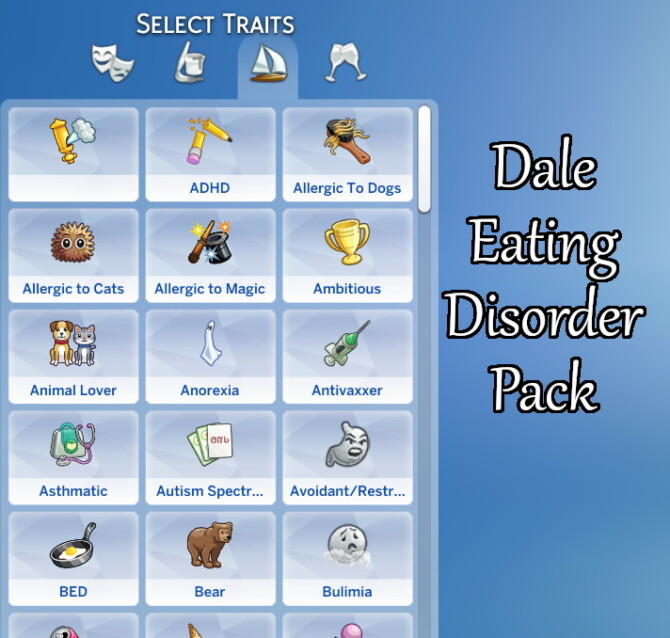 Sims 4 Dale Eating Disorders Pack by DaleRune at Mod The Sims 4