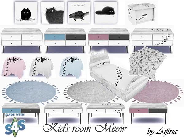Sims 4 Meow kids room at Aifirsa