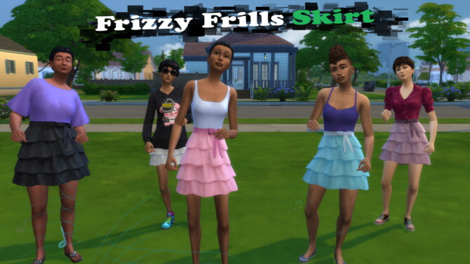 Sims 4 Frizzy Frills Skirt by Infinity at Mod The Sims 4
