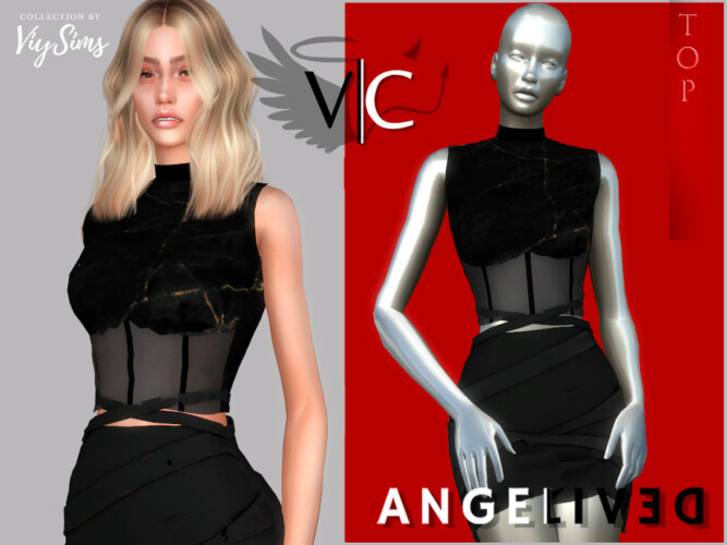 Angelived Collection Top V By Viy Sims