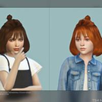 Child Hair G40c Mid Length Half Updo Buns By Daisy-sims