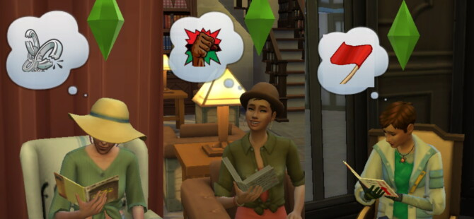 Sims 4 Rebel Books by Staberinde at Mod The Sims 4