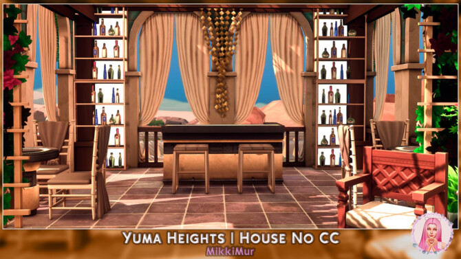 Sims 4 Yuma Heights House in the ancient roman style at MikkiMur
