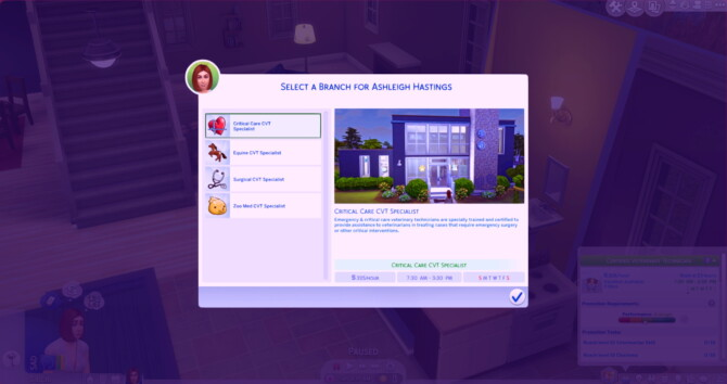 Sims 4 Veterinary Technician Career by ItsKatato at Mod The Sims 4