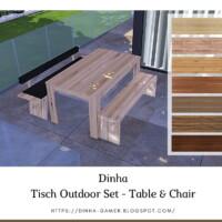 Tisch Outdoor Set