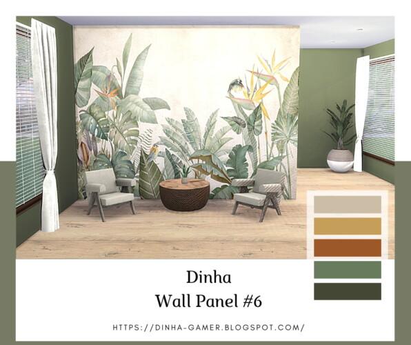 Wall Panel & Matching Walls   6, 7, 8 & 9