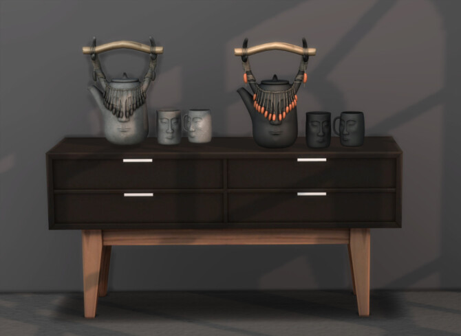 Sims 4 Tribal Tea Set at Leo Sims