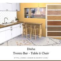 Trento Bar: Table & Chair