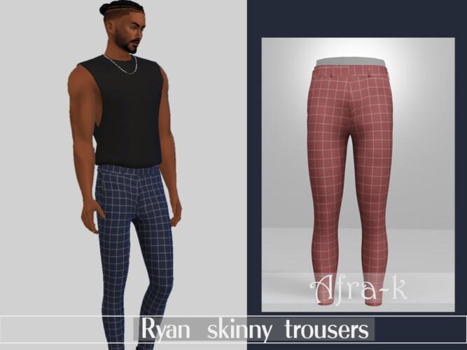 Ryan Skinny Trousers By Akaysims