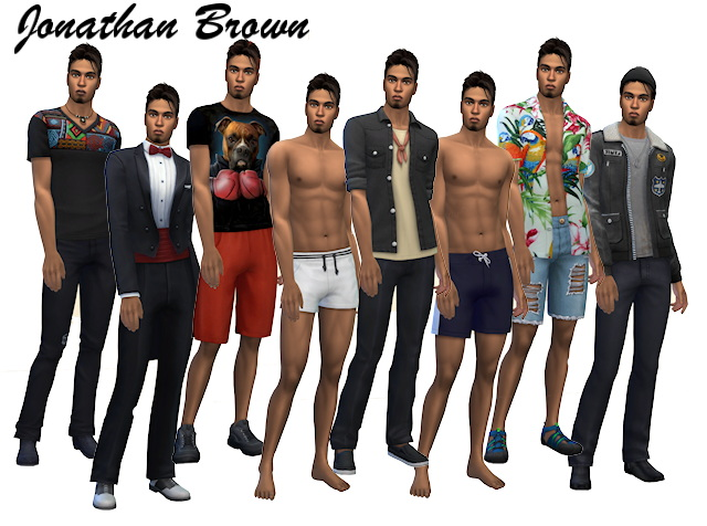 Sims 4 Brown family at All 4 Sims