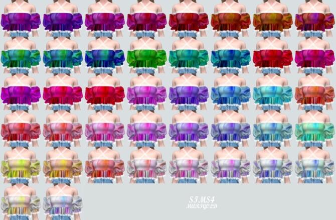 Sims 4 Puff Sleeves OS Blouse 2 Lace V at Marigold
