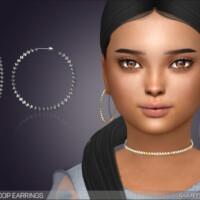 Kenzie Hoop Earrings For Kids