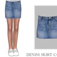 Denim Skirt C420 By Turksimmer