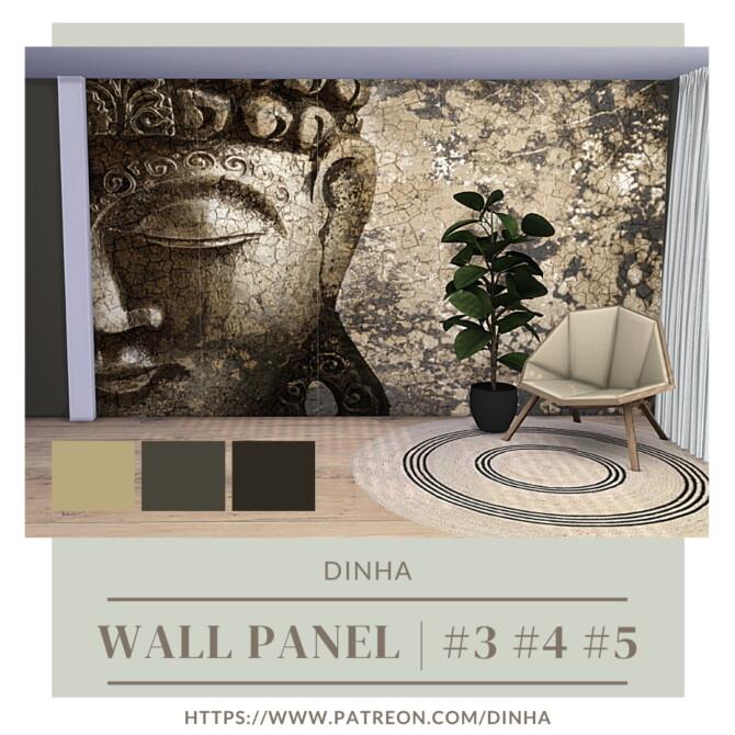 Sims 4 Wall Panel # 3, 4 & 5 with matching walls at Dinha Gamer