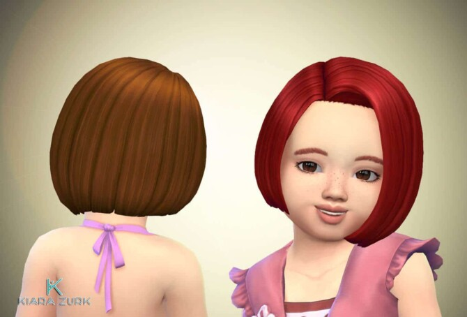 Sims 4 Gaby Hairstyle for Toddlers at My Stuff Origin