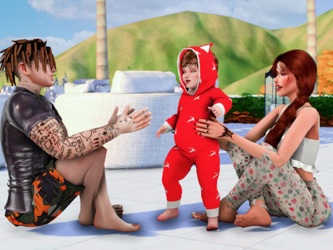 Sims 4 Just little cute moments posepack by Couquett at TSR