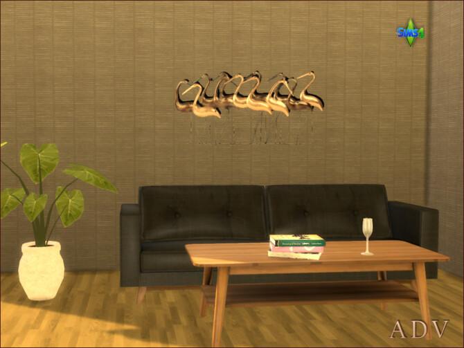 Sims 4 Metal wall decoration by Mabra at Arte Della Vita