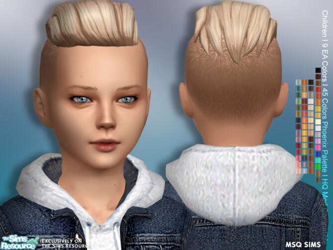 Sims 4 Lukas Hair Children at MSQ Sims
