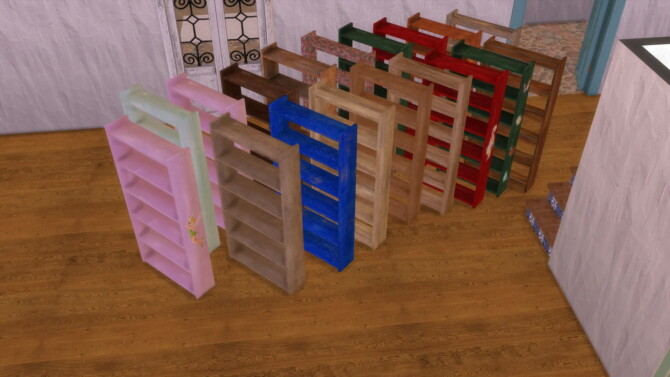 Sims 4 Empty Bookcase by Alikis Nook at Sims 4 Studio