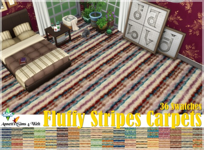 Fluffy Stripes Carpets