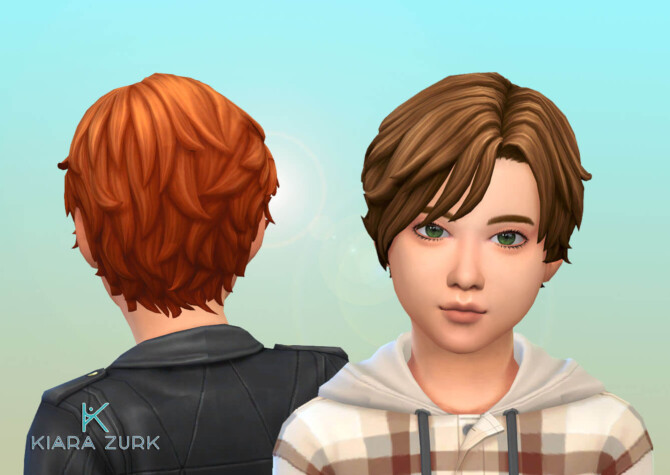 Sims 4 Romano Vargas Hairstyle for Kids at My Stuff Origin