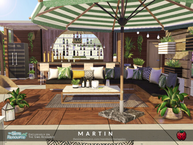 Sims 4 Martin terrace by melapples at TSR