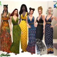 Popcorn Long Summer Dress By Chalipo