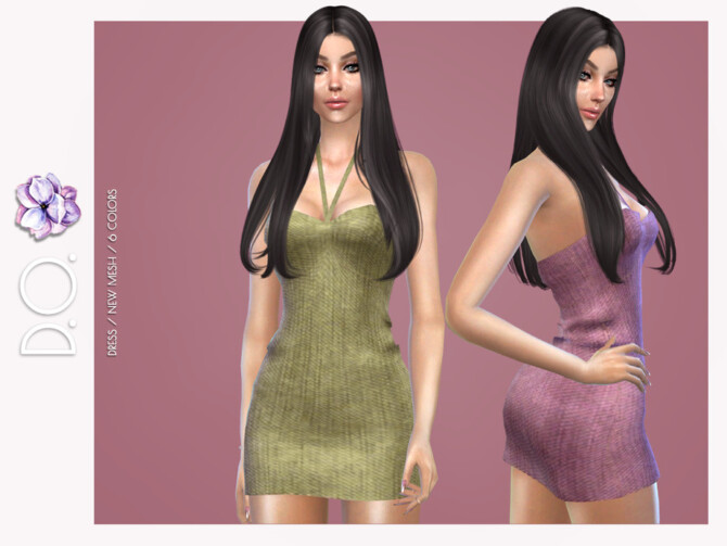 Sims 4 Dress 114 by D.O.Lilac at TSR