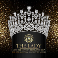 """The Lady"""" Miss All Nation Thailand 2017 Crown"""