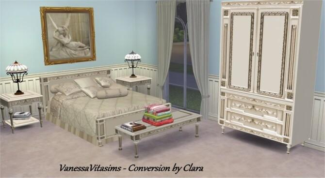 Sims 4 Vanessa Bedroom Vitasims Conversion by Clara at All 4 Sims