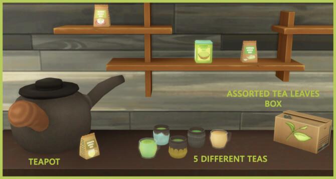 Green Teas And Tea Pot