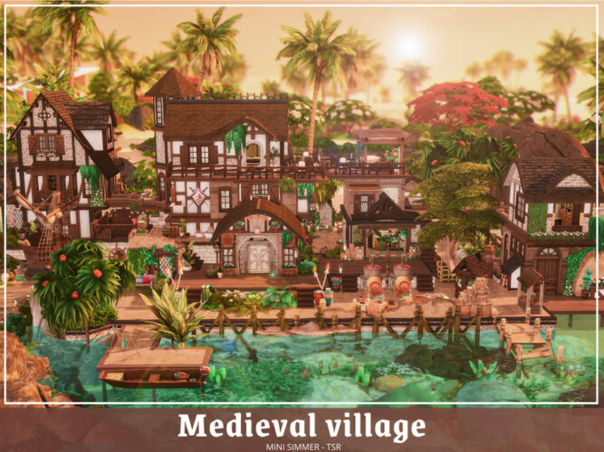Medieval Village By Mini Simmer