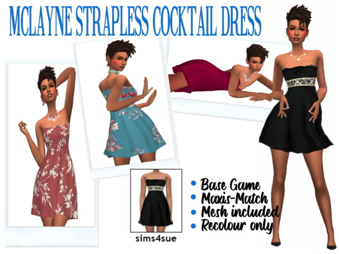 Mclayne's Strapless Cocktail Dress