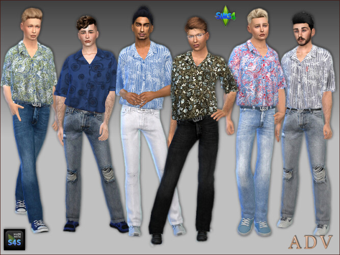 Jeans And Shirts For Males