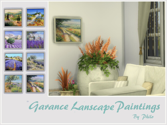 Garance Lanscape Paintings By Philo