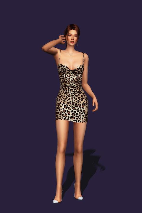 Sims 4 Silky Dress at Gorilla