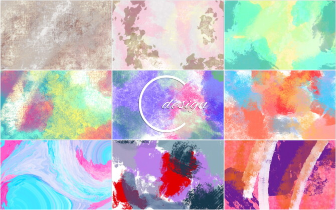 Sims 4 Abstract Murals at Cross Design